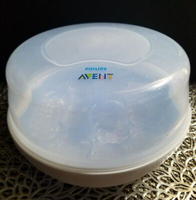 Philips Avent Microwave Steam Baby Bottle Sterilizer Sanitizer BPA Free EUC