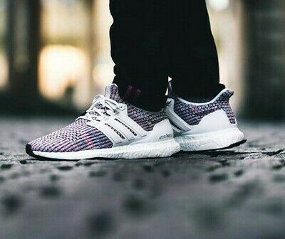 ADIDAS RUNNING ULTRA Boost 4.0 White MULTICOLOR Men Sneaker