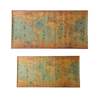 Navigation Monster World Map Vintage Poster Retro Home Bar Wall Decor Gifts