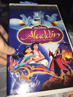 Disney's Aladdin Platinum Edition RARE VHS - NEAR MINT