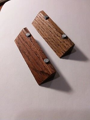 2--Solid Oak Magnetic Knife Stands. Hand Made Usa
