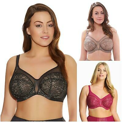 Elomi Lingerie Raquel Underwired Non Padded Full Cup Banded Bra 4050 Black Taupe