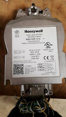 Honeywell MS4109F1210 2-Position Direct Couple Damper Actuator Switch Spring Ret