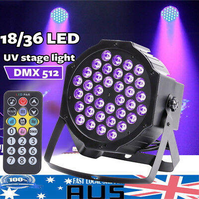 18/36 LED UV Stage Light Black Light Wall Washer Lamp Remote DMX Bar DJ Party