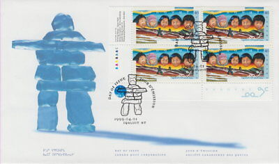Canada #1784 46¢ Creation Of Nunavut Territory Ll Plate Block First Day Cover