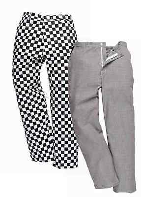 PORTWEST S068 Harrow black/white chessboard or houndstooth chefs trouser XS-3XL