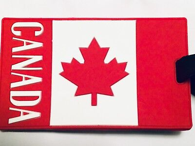 CANADA Flag Luggage Tag Baggage ID Travel Suitcase Backpack Carry-on Tag