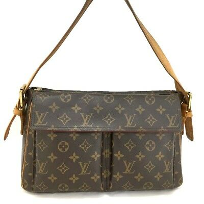 100% Authentic Louis Vuitton Monogram Viva Cite GM Shoulder Bag Purse  d443 71c7d2731b522
