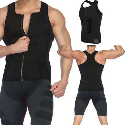 331224f184 Neoprene Body Shaper Slimming Vest Men Zip Corset Sauna Sweat Shirt Sport  Gym