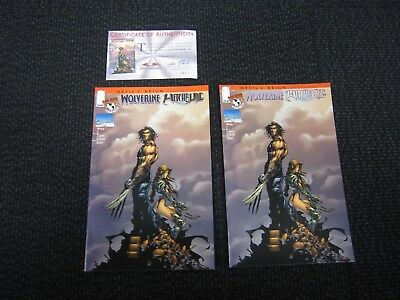 Wolverine Witchblade #5 - 1997 gold variant with C.O.A.