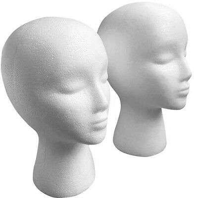 High quality Foam Female Head Mannequin Wig Hat Glasses Display Stand Model
