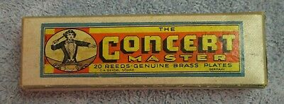 Cass The Concert Master 20 Reed Key of G Harmonica - C A SEYDEL Sohne, Germany