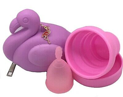FDA Approved, Menstrual Cup with Full KIT,  FLAMINGO PRIVACY POUCH