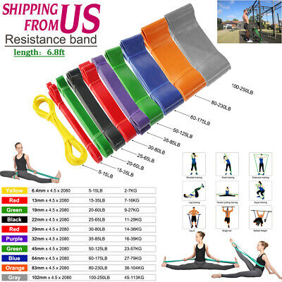 Exercise Bands Latex Resistance Body Stretching Pull Up Assist Bands Fitness