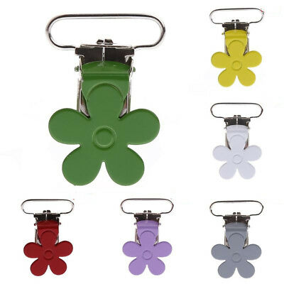 2Pcs Baby Boys Suspender Flower Soother Pacifier Holder Dummy Clips Hook Popular