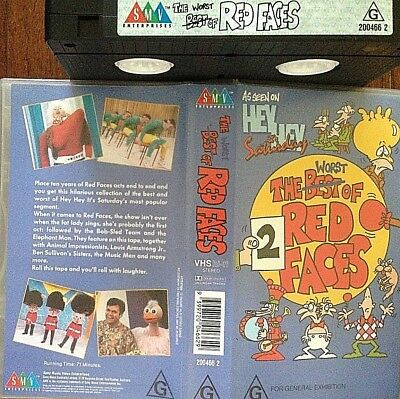 VHS VIDEO TAPE ~  Hey Hey Its Saturday The WORST of Red Faces 2