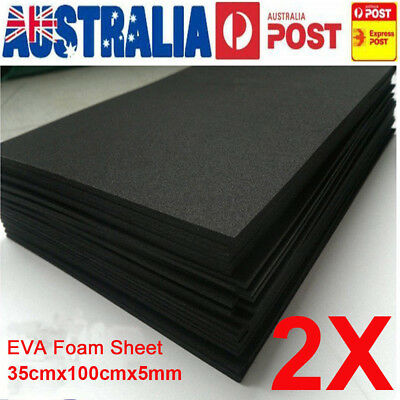 2PCS 5mm Black EVA Foam Sheets Kids Handmade DIY Craft Cosplay Model 35x100cm
