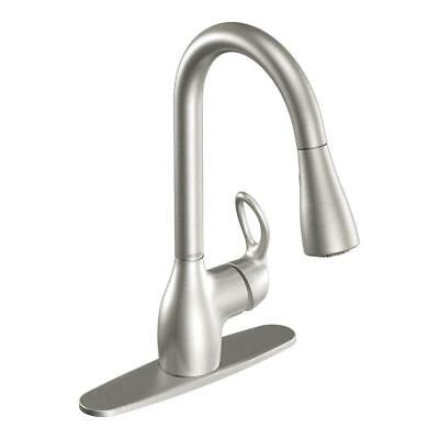 MOEN Kleo Single-Handle Pull-Down Sprayer Kitchen Faucet Stainless Steel NEW
