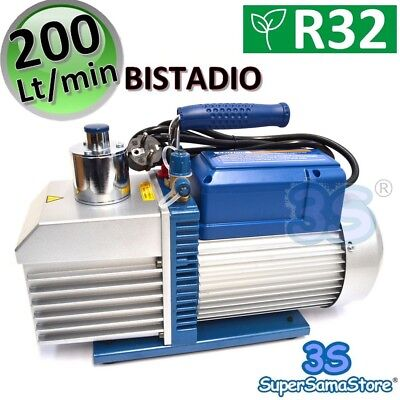 3S NEW HIGH VACUUM PUMP 7.0 CFM 200 L/Min DOUBLE STAGE AIR CONDITIONING R32 R410