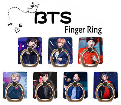 Kpop BTS Finger Ring Bangtan Boys Stand Holder for Mobile Phone 360° Suga Jimin