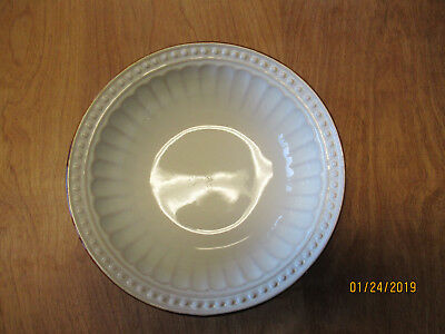 "Gibson BRAEDON CREAM Soup Cereal Bowl 7 1/2"" Cream / Brown 1 ea  11 available"
