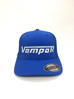 Vampar Clothing Co Rambler Logo Flex Fit Hat L/XL Royal/ Silver Skate Surf Snow