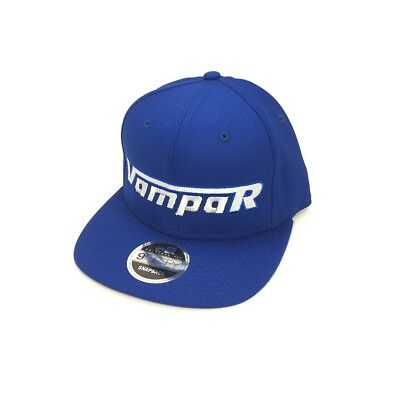 Vampar Clothing Co Rambler Logo Flat Bill Hat Royal/ Silver Skate Surf Snow