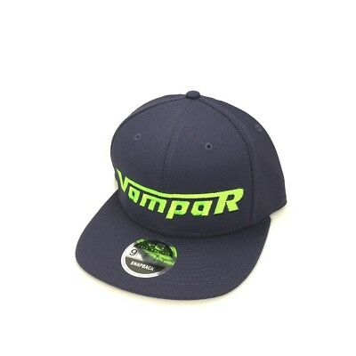 Vampar Clothing Co Rambler Logo Flat Bill Hat Navy/ Lime Skate Surf Snow