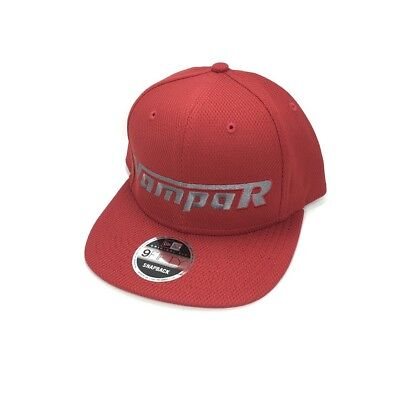 Vampar Clothing Co Rambler Logo Flat Bill Hat Crimson/ Gun Metal Skate Surf Snow