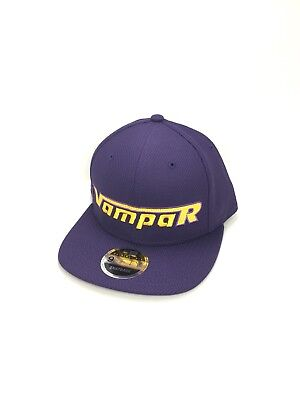 Vampar Clothing Co Rambler Logo Flat Bill Hat Purple/ Gold Skate Surf Snow