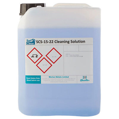Warton SCS-15-22 5L Surf Clean SCS-15-22 Saponification Cleaning Solution 5L