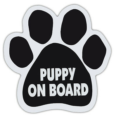 Dog Paw Shaped Magnets: PUPPY ON BOARD Dogs, Gifts, Cars, Trucks