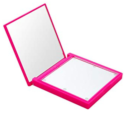 FLO Mirror LED Lights Compact  Make Up Mirror / PINK or BLACK