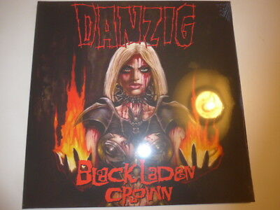 Danzig - black Laden Crown - LP Neon yellow vinyl - LIMITED 1000 copies