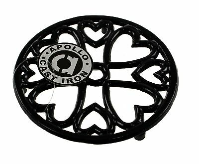 Round Kitchen Cast Iron Pot Stand Trivet Casserole Holder Table Protector Black