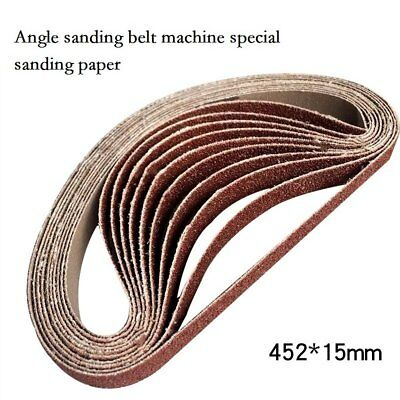 10pcs Replacement Polishing Sanding Belt 40-600# Grit Sandpaper Durable Belt New