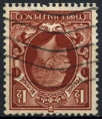 GB KGV 1934-6 SG#441wi 1.5d Red Brown Wmk Inverted Used #D82971