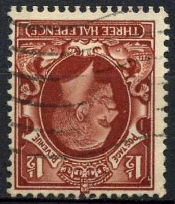 GB KGV 1934-6 SG#441wi 1.5d Red Brown Wmk Inverted Used #D82974