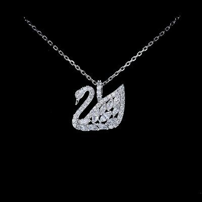9af4732f8587 SWAROVSKI SWAN LAKE Small Pendant Necklace White 5296469 -  78.00 ...