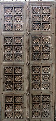 Door Gate Wood Hand Carved Flower Home Decor Vintage Collectible India
