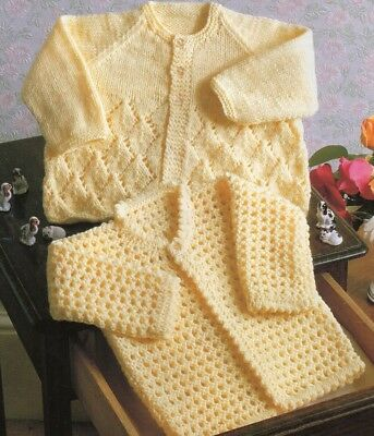 Baby knitting pattern Lacy Coat  copy Gorgeous lacy & textured designs
