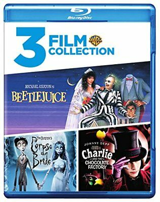 Beetlejuice/Charlie and the Chocolate Factory/ Corpse Bride[Blu-ray]