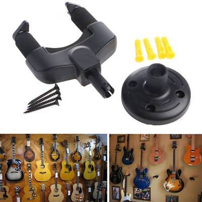 Electric Guitar Wall Hanger Mount Holder Stand Rack Hook BK Display For All Size