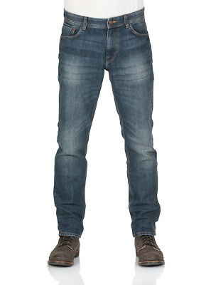 Tom Tailor Herren Jeans Marvin - Straight Fit - Blau - Mid Stone Wash Denim