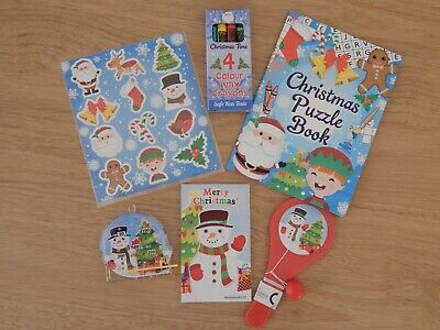 Kids Christmas 6 Activity Pack Boys Girls Xmas Stocking Fillers Gifts Toys Small