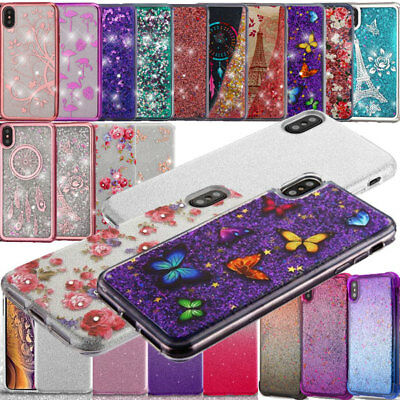 For iPhone XS Max Glitter Hybrid Candy Gummy Gel Candy TPU Case Protector Cover