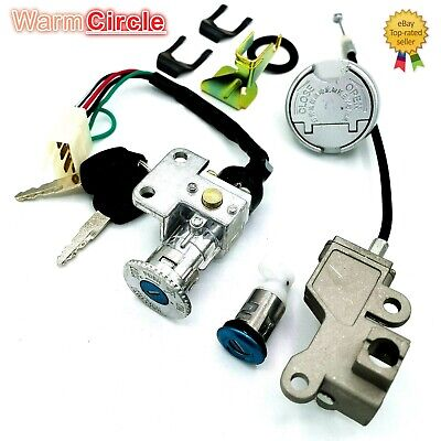 GY6 50CC IGNITION Switch Key Lock Gas Tank Cap Set For