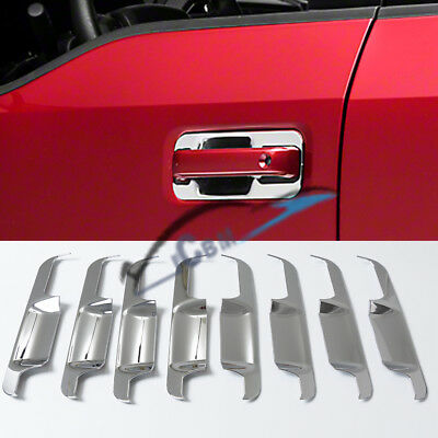 Car & Truck Exterior Door Handles 2015-2019 Ford F-150 4Drs Chrome Door Handle Covers Base+Level 12Pc NO/PSKH