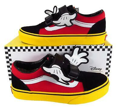 440f74edc0 VANS X DISNEY Old Skool V Mickey Mouse Hug Black Red Yellow Toddler ...