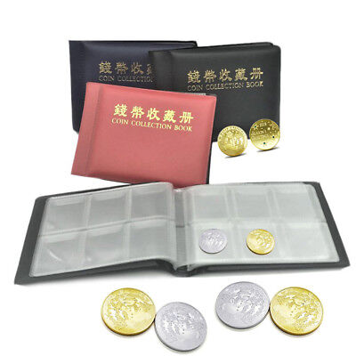 60 Coins Collection Holders Storage Money Penny Pocket Album Book Folder Hobby